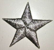 SILVER 1/2 inch iron on star patch applique kid patches embellishment - 236