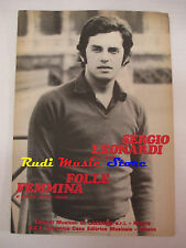 SERGIO LEONARDI Folle femmina 1970 RARO SPARTITO SINGOLO italy cd lp dvd mc