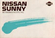 NISSAN SUNNY Betriebsanleitung 1989 Bedienungsanleitung N13 Handbuch Bordbuch BA