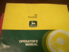 John Deere Tractor Operator'S Manual 59 Forklift Issue J8