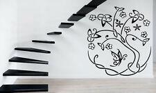 Tree Flower Floral  Positive Children Mural  Wall Art Decor Vinyl Sticker z576