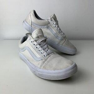 Women's VANS Off The Wall White Old Skool Trainers UK 6.5 EU 40 US 7.5 - VGC