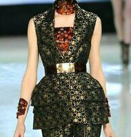 $6,544 Alexander McQueen 2013 Honeycomb Dress Runway Peplum Jacket US 2 4  IT 40