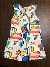 Girls Age 4-5 NEXT Tunic Dress HOT AIR BALLOONS w Adorable Green Bows