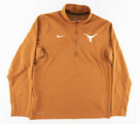 Nike Dri-Fit Mens Medium 1/4 Zip Pullover Sweatshirt University Texas Long Horns