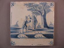 Antike Niederländische biblische Kachel Fliese Dutch Tile Provinz Uetrecht 18Jh.