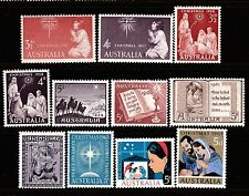 1957-65 ALL 11 CHRISTMAS PRE-DECIMAL STAMPS - FRESH MUH
