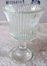Tiara Indiana Glass Footed Votive Crystal Candle Holder Facets Panels Lead Cup