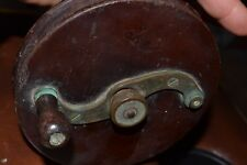"""VINTAGE 1886 G. RITTER NEW YORK FISHING  REEL BRASS AND WOOD 6"""" DIA. VERY RARE"""