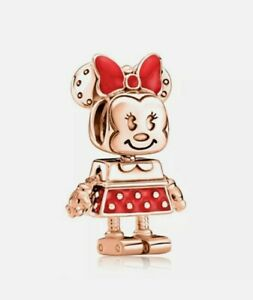 🤖 Rose Gold Disney Minnie Mouse Robot Charm Add On Pandora Bracelet