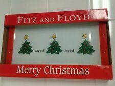 Fitz & Floyd Glass Christmas Tree Serving Tray, Serving Dish, Plate, Platter Nib