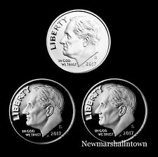 2017 S+S+S  Roosevelt Dime Silver, Clad and Enhanced Mint Proof Set