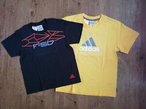 Adidas T-Shirts Set Jungen gelb schwarz Angebot Tshirt Kinder Sport shirts NEU