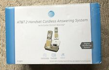 At & T 2 Handset Cordless Answering Digital Phone System-New Open Box