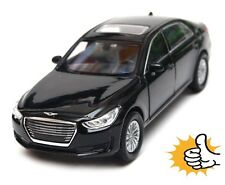 Hyundai Genesis G90 black model car miniature Welly diecast modellauto 1:40