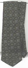 REPP 100% Silk Black Slate Grey Blue Gold Necktie Geometric Design