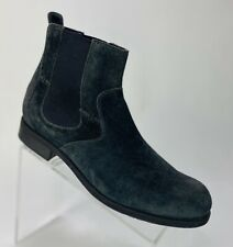 New! Ugg Men's Briscoe Chelsea Boot Size 9 Black Leather Suede Distress