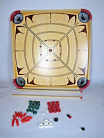 Carrom Game Board Model 100% COMPLETE IN BOX 44 Pieces Vintage