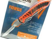 Havalon 60ARHO Black Orange Forge Folding Hunting Knife + Sheath + 6 Blades