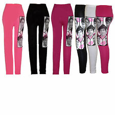 ONE DIRECTION 1D LEGGINGS PANTS Age 7 8 9 10 11 12 13 years GIRLS KIDS Stretchy