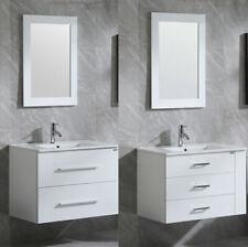 32 inch White Bathroom Sink Double / Three Drawer Vanity Cabinet Mirror Indoor