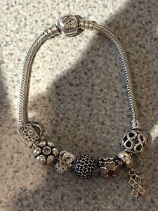 Pandora Snake Moments Bracelet And 7 Charms
