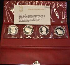 1970 Proof Silver Set of 4 Coins from Equatorial Guinea, Quite Rare