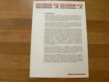 PM198 FREDDIE SPENCER MARLBORO INFO AROUND 1989 SPANISH ?LANG ? 7 PAGES