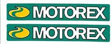 New Listingmotorex Racing Decals Stickers Set Of 2 Body Black Window Motorcycle Vinyl