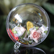 20x 10cm Clear Plastic 2 part Christmas Baubles 10cm-birthday,wedding craft ball