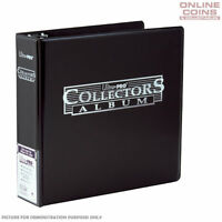 Ultra-Pro 3 Ring Black Collectors Album for Trading Cards Coins and Collectibles