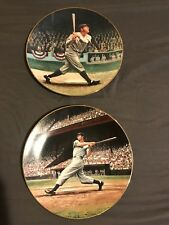 Joe DiMaggio Babe Ruth Collectors Plates
