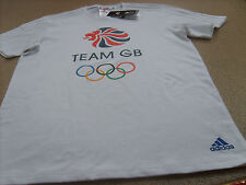 More details for official adidas olympics rio 2016 team gb logo men's white t-shirt