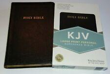 KJV Bible Large Print Black Bonded Leather Cover King James Version BRAND NEW!!!