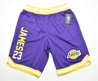 NWT Officially Licensed NBA Los Angeles Lakers Lebron James #24 Basketball Short