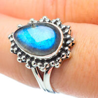 Labradorite 925 Sterling Silver Ring Size 8 Ana Co Jewelry R32209