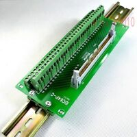 DIN Rail Mount IDC64 2x32 64 Pin 2.54mm Header Interface Module Breakout Board
