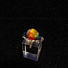 Ring, Gr.58,  Silber 925 mit einem Opal Cabochon aus Äthiopien
