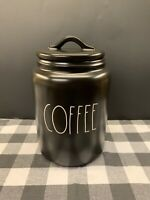 Rae Dunn Artisan Collection By Magenta 2020 COFFEE LL Large Black Canister HTF