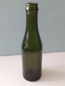 Vintage Fowlers Prestonpans Green Glass Beer Bottle