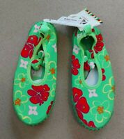 Playshoes Girls Floral Waterproof Swim Beach Wet Shoes Size 13.5 -1 (32-33)