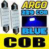 LED 239 38MM Azul Brillante Matrícula Bombilla Tipo Fusible Luz Interior