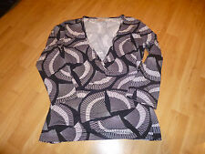 LADIES BLACK/CREAM NEXT PETITE TOP SIZE 10
