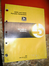 4000 5000 JOHN DEERE PORTABLE GENERATOR FACTORY TECHNICAL SERVICE MANUAL TM 1372