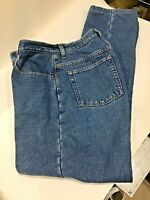 LL BEAN Women's Double L Relaxed Fit Flannel Lined Jeans Size 10T