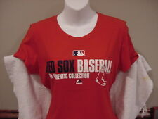 CUTE Boston Red Sox Women's Md Red Majestic Auth Collection Cotton T-Shirt, NEW!
