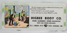 1900's Bull of the Woods JR Williams Higbee Body Co. Kokomo Indiana Ink Blotter