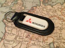 Mitsubishi Estampado Calidad Piel Auténtica Negro Llavero Shogun Outlander ASX