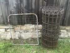 Vtg Twisted Wire Garden Fence Gate 50 Ft Roll 41� Tall Cottage Farm Garden