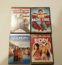Comedy Movies Lot of 4 Dvds - School of Rock, Couples Retreat, Edtv, Nacho Libre